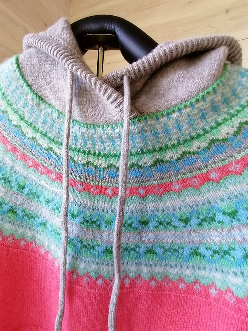 Eribe Fair Isle Design Hoody Sweater