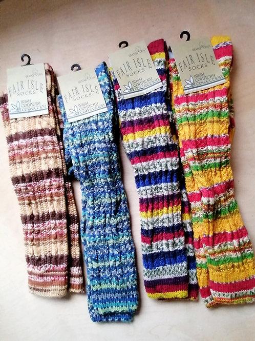 Women's Fairisle Long Socks