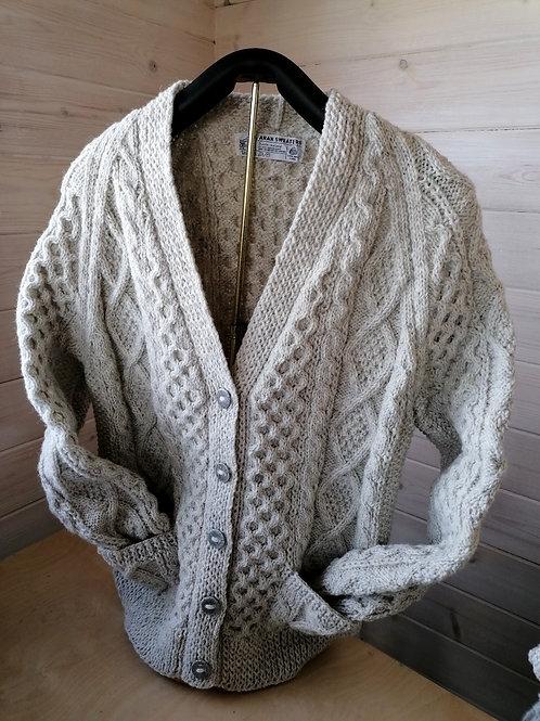 Cleo Original Aran Handknit Honeycomb Cardigan