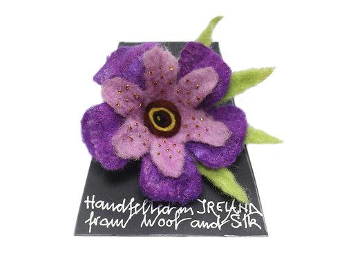 Handmade Felt Flower Brooch