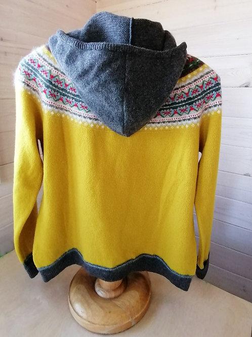 Eribe Fair Isle Design Hoody Sweater