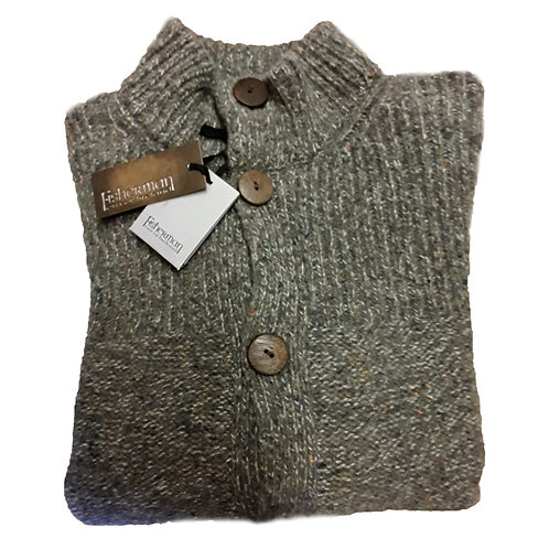 Fisherman Out Of Ireland, Mens Buttoned Sweater