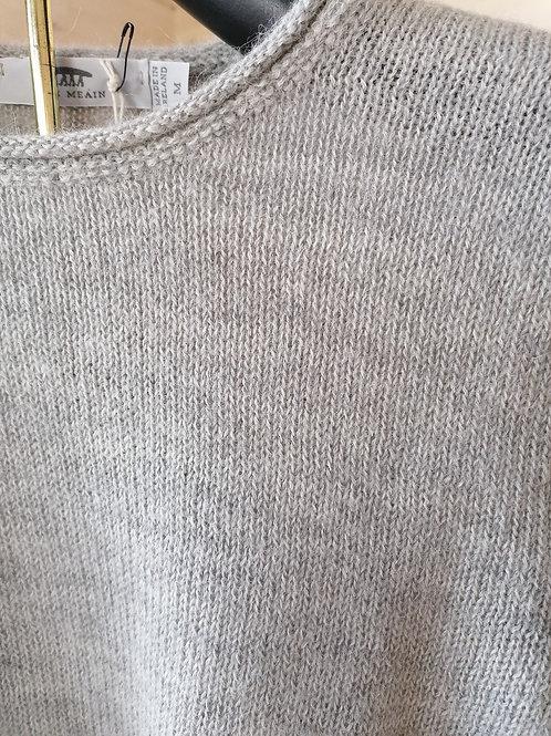 Inis Meain Ladies  Alpaca rolled seam sweater