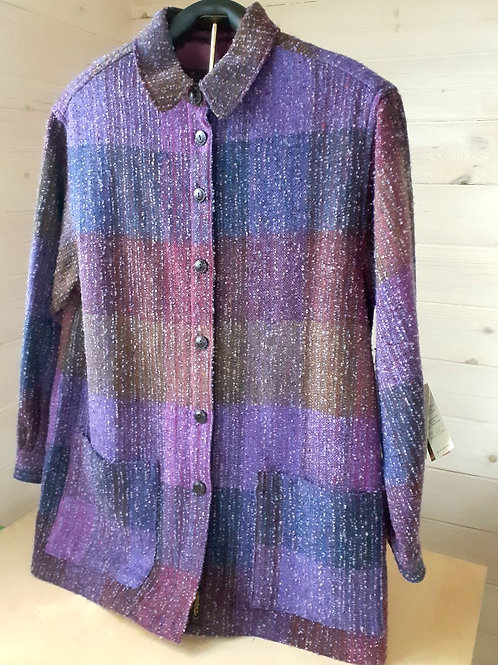 Studio Donegal Women's Handwoven Wool Shirt Jacket