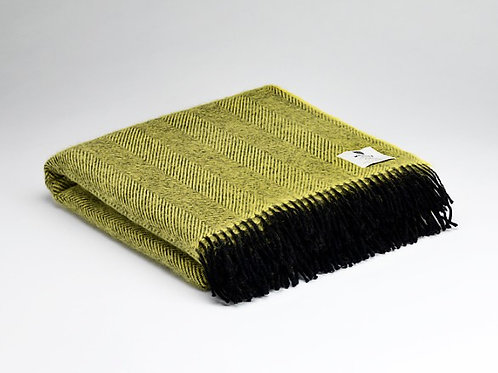 McNutt of Donegal Pure Wool Herringbone Blanket
