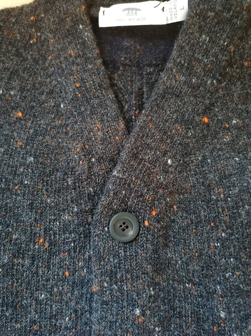 Inis Meain Hi V jacket 80% merino wool 20% cashmere