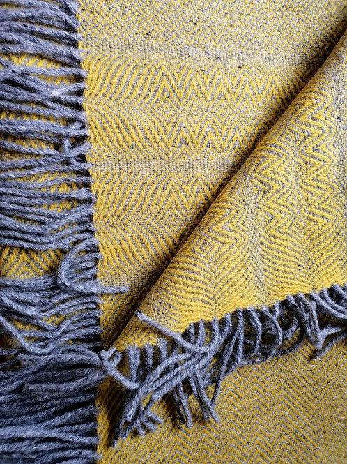 Studio Donegal Handwoven Undulating Twill Blanket