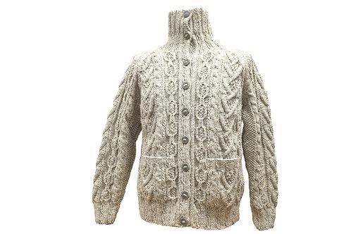 Aran hand knit sweaters -Burren cardigan