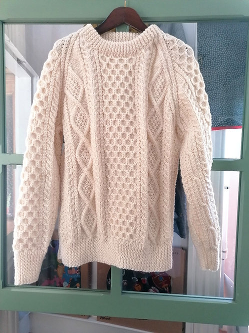 Aran hand knit sweaters