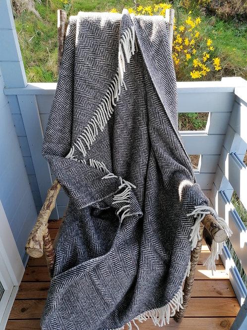Eddie Doherty Handwoven  Tweed Blanket
