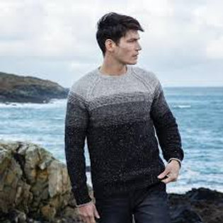 Fisherman Out of Ireland - Two Tone Raglan Crew Neck Sweater