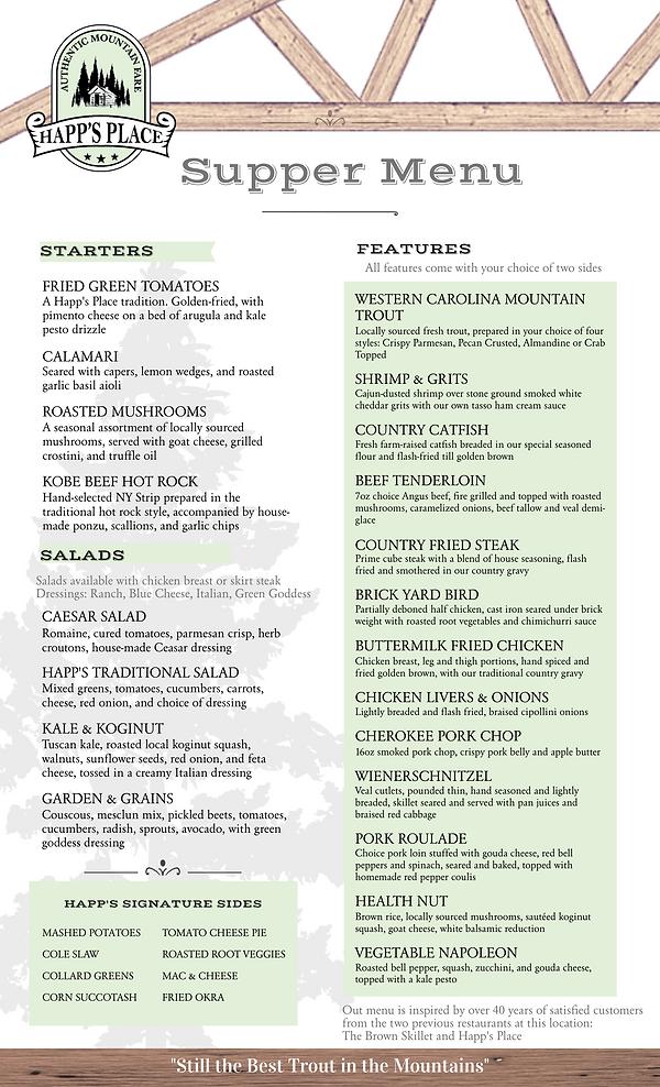 Best menu near me