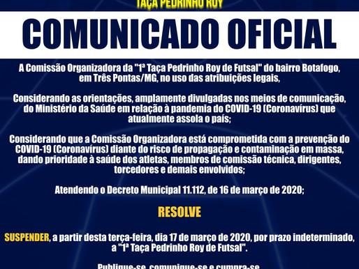 COMUNICADO OFICIAL - TAÇA PEDRINHO ROY DE FUTSAL