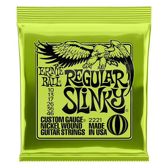 ERNIE BALL REGULAR SLINKY NICKEL WOUND ELECTRIC GUITAR STRINGS