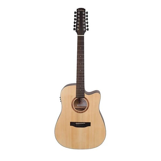 MARTINEZ 'NATURAL SERIES' SOLID SPRUCE TOP 12-STRING