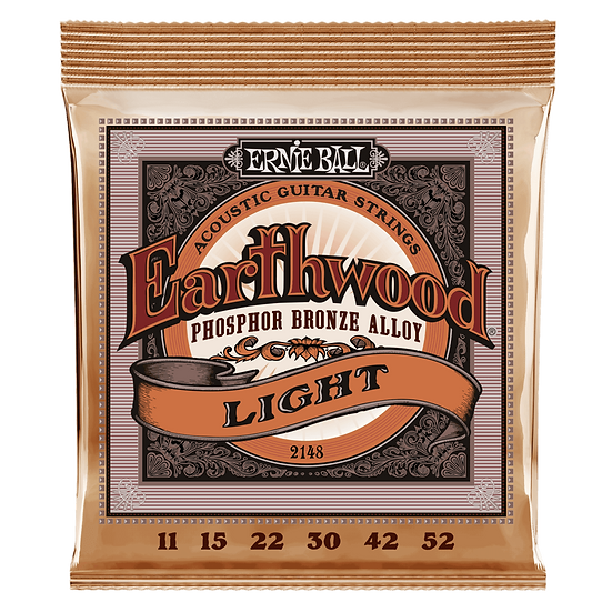 ERNIE BALL EARTHWOOD LIGHT PHOSPHOR BRONZE ACOUSTIC GUITAR STRINGS