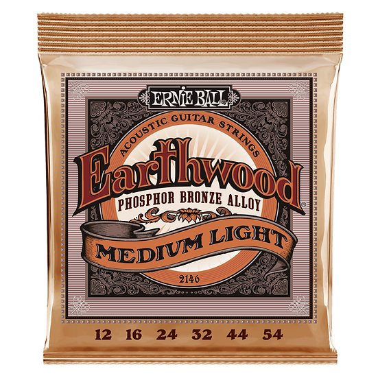 ERNIE BALL EARTHWOOD MEDIUM LIGHT PHOSPHOR BRONZE ACOUSTIC GUITAR STRINGS