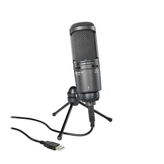 AUDIO TECHNICA AT2020USB+ CONDENSER MICROPHONE WITH USB OUTPUT