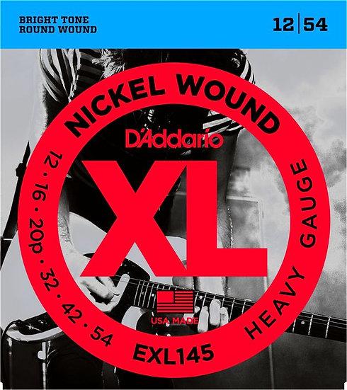D'ADDARIO EXL145 HEAVY 12/54 ELECTRIC STRINGS