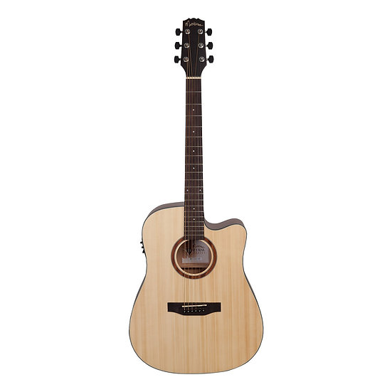 MARTINEZ 'NATURAL SERIES' SOLID SPRUCE TOP ACOUSTIC-ELECTRIC DREADNOUGHT CUTAWAY
