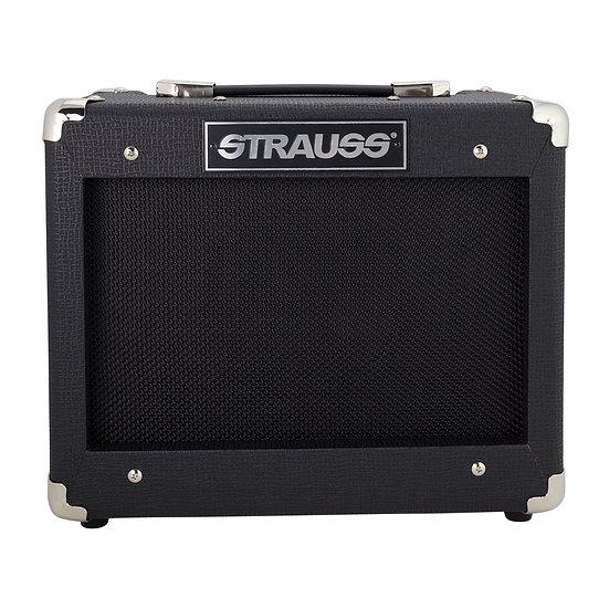 STRAUSS LEGACY 15 WATT SOLID STATE GUITAR PRACTICE AMPLIFIER (BLACK)