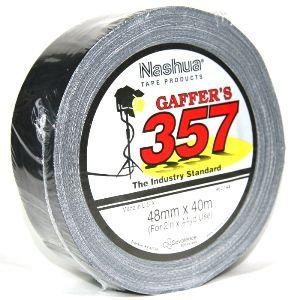 NASHUA 357 GAFFER TAPE BLACK 40M