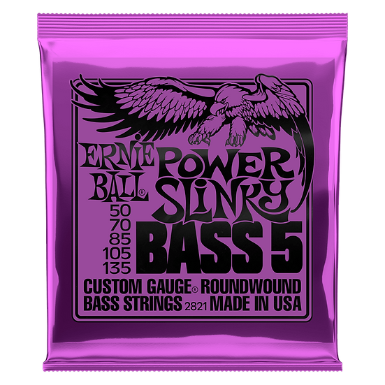 ERNIE BALL POWER SLINKY 5-STRING NICKEL WOUND ELECTRIC BASS STRINGS