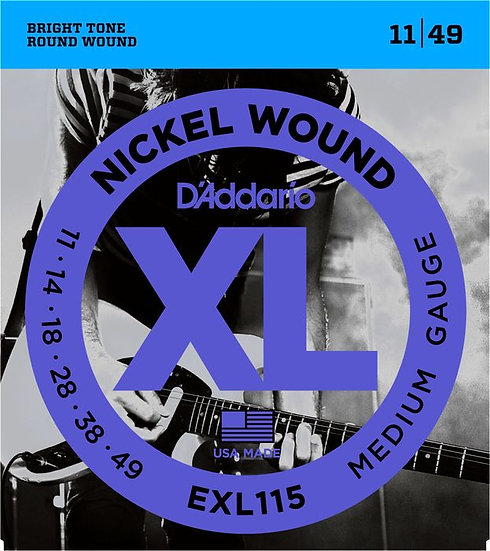 D'ADDARIO EXL115 MEDUIM 11/49 ELECTRIC STRINGS