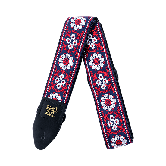 ERNIE BALL MIDNIGHT BLOSSOM JACQUARD GUITAR STRAP