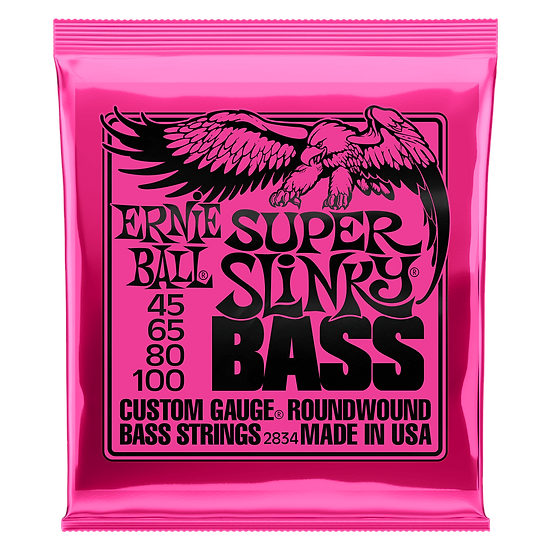ERNIE BALL  SUPER SLINKY NICKEL WOUND ELECTRIC BASS STRINGS