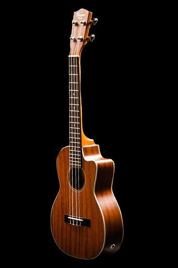OHANA UKULELES TK-20CE SOLID TOP MAHOGANY WITH CUT-AWAY TENOR