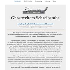 Buchschreiberlinge Ghostwriters Schreibstube