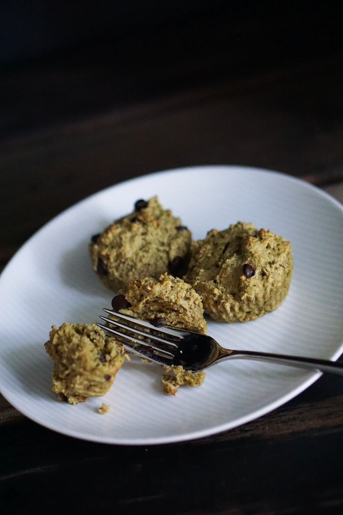 Monk Fruit Matcha Muffins