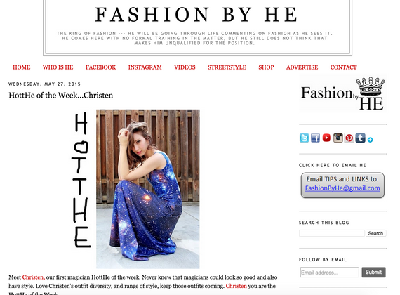 Feature on Fashion by He