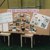 Vereinsgründung, die offizielle Wandzeitung