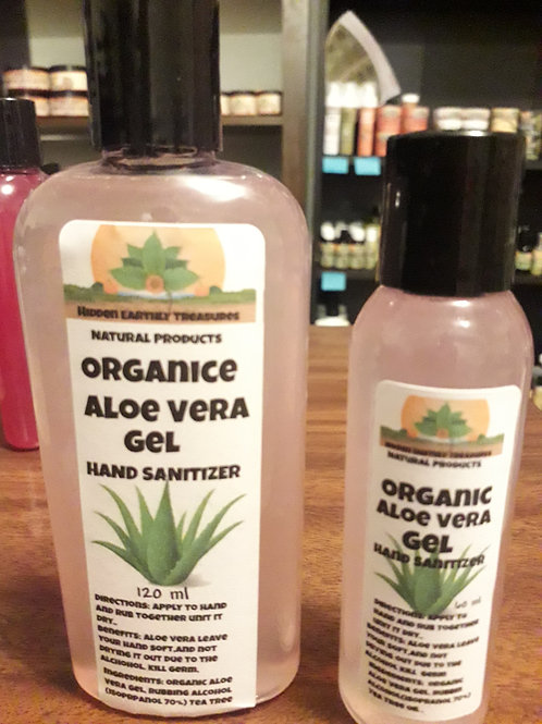Organic Aloe Vera Hand Sanitizer 120 ml