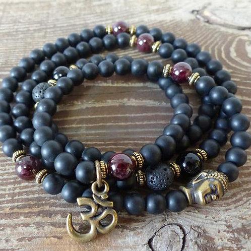 Black Matte Onyx 108 Prayer Beads