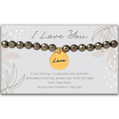 Token Stretch Bracelet, Love