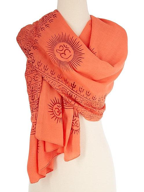 OM Yoga Meditation Prayer Shawl - Large Color Base