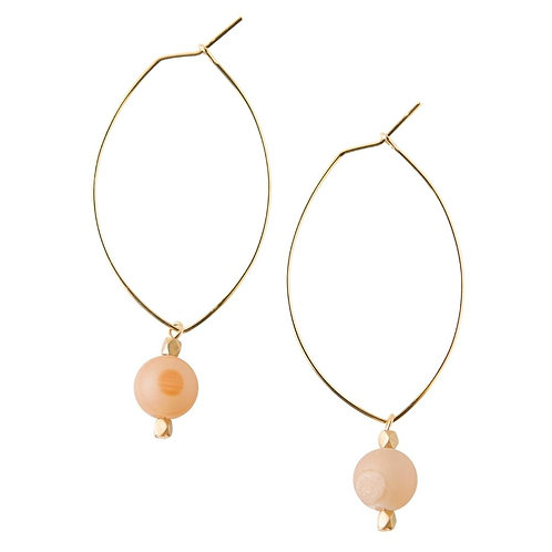Lenny Gemstone Earrings- Druzy