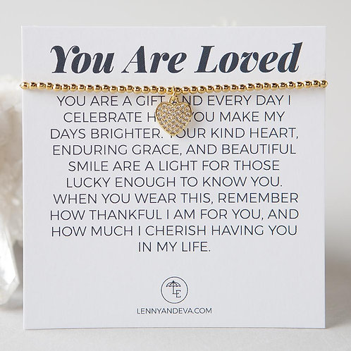 You Are Loved Bracelet, Heart