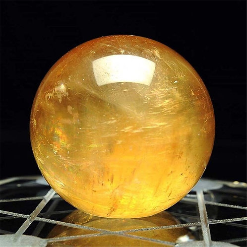 Citrine Quartz Crystal Sphere Healing Gemstone