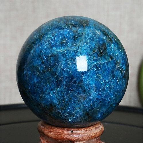0mm-60mm Natural Quartz  Blue Apatite Crystal Ball