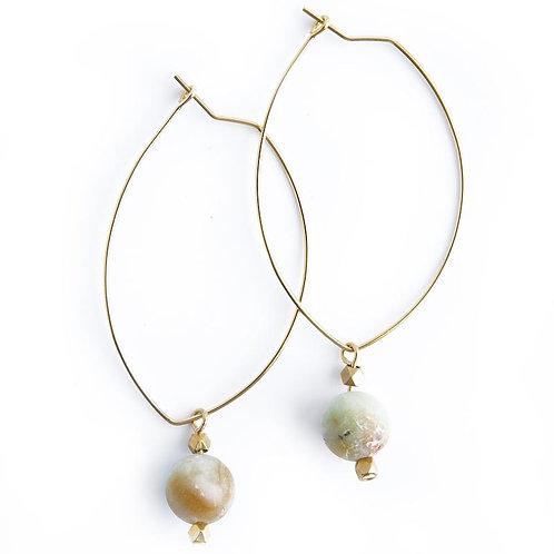 Lenny Gemstone Earrings-Amazonite