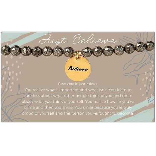 Believe Pyrite Bracelet