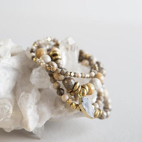 Silver Leaf Jasper Gemstone Bracelets