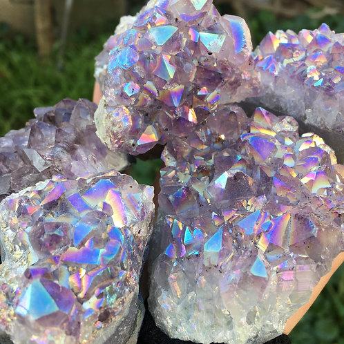 Rainbow Amethyst Cluster