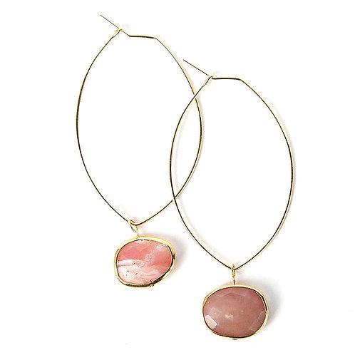 Ava Earrings-Rose Quartz