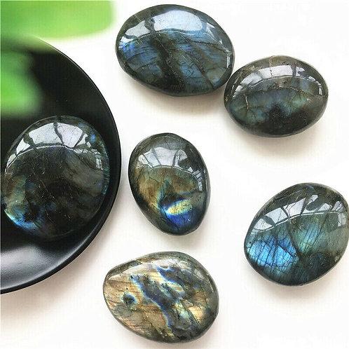 Irregular Labradorite Polished  Quartz Crystal