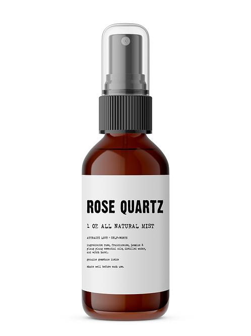 Rose Quartz Meditation Mist with Stone